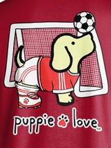 Puppie Love Rescue Dog Men Women Short Sleeve Graphic T-Shirt, Soccer Pup image 2