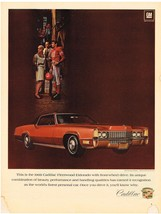 Vintage 1969 Magazine Ad Cadillac 1969 Fleetwood Eldorado With Front Wheel Drive - $5.93