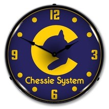 Retro Nostalgic Chessie System Railroad Lighted Backlit Man Cave Wall Cl... - $129.95