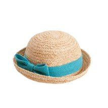 BLUE Baby Girl Sun Cap Infant Straw Summer Hat Toddle Summer Hat 50 CM