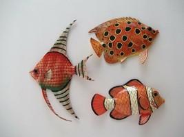 Set 3 Tropical Fish Wall PlaqueTiki Bar Beach Pool Nautical Decor TFW3N - $27.99