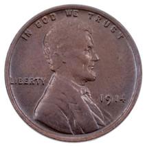 1914 1C Lincoln Cents Bu État, Marron Couleur, Excellent Oeil Appeal & L... - $78.69