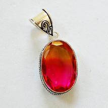 Beautiful Tourmaline quartz silver overlay pendant German silver pendant... - $1.07