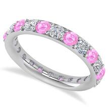 2.00 Ct Round Real Diamond & Tourmaline 14K Gold Full Eternity Wedding B... - €596,18 EUR