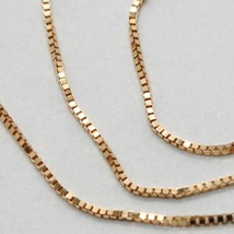 18K ROSE GOLD CHAIN MINI 0.8 MM VENETIAN SQUARE LINK 19.7 INCHES MADE IN ITALY image 2