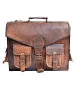 Genuine Leather Men's Crossbody Messenger Shoulder Bag Satchel goat leat... - $57.42+