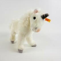 Steiff Starly Einhorn Plush White Unicorn 7 inches 015106 - $37.36