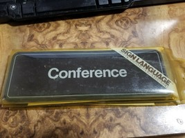 Door Sign Business Commercial Plastic W Adhesive - 9x3 - Conference - $7.91