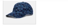 COACH Denim Signature Baseball Womens Hat OS New    - $85.13