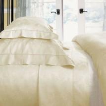 Sferra White Floral Damask Full Sheet Set Jacquard Egyptian Cotton Darcy Italy - $580.00