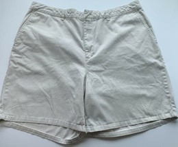 Tommy Hilfiger Shorts Womens Size 16 Light Beige 100% Cotton Casual Summer - $13.85