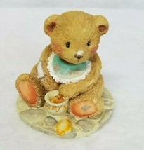 Cherished Teddies Figurine Benji Bear Pot of Honey Sweet Candy 1991 - $12.00