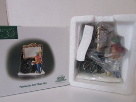 Dept 56 02377 Village Access Painting Our Own Village Sign Dickens Mib D7 - $18.57