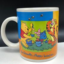 WALT DISNEY COFFEE MUG CUP Christopher Robin winnie pooh Bee friendly ti... - $19.74
