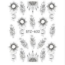 HS Store -1pcs STZ-630 Slider Nail Sticker Nail Art Watermark Tattoo Decorations - $1.32