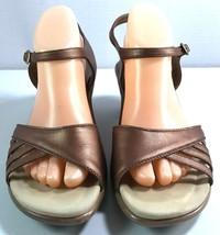 Dansko Womens Heel Sandals Copper Leather Ankle Strap Size 41 Shoes 10.5... - $71.16