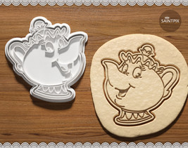 Beauty and the Beast. Mrs. Potts Cookie Cutter. Teapot. Chip. 3D printed... - $8.50+
