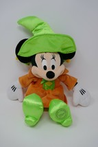"""Disney Stores Minnie Mouse Halloween Witch 16"""" Plush Stuffed Toy - $14.01"""
