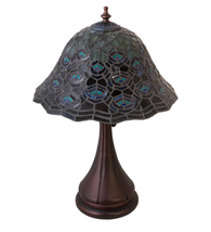 "18""H Tiffany Peacock Feather Accent Lamp - $792.00"
