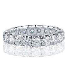 3 Carat Round Cut Diamond Eternity Wedding Band 18k White Gold - £3,994.81 GBP+