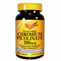 Natural Wealth - Chromium Picilinate - Supports Sugar Metabolism - 100 Tabs - $39.00