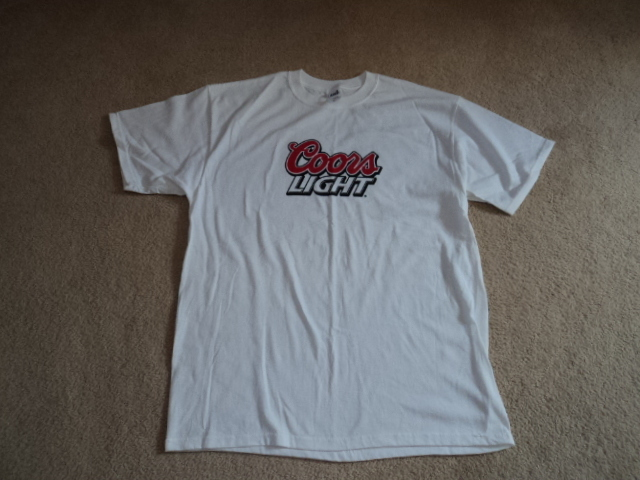 Anvil Coors Light  White XL T-Shirt