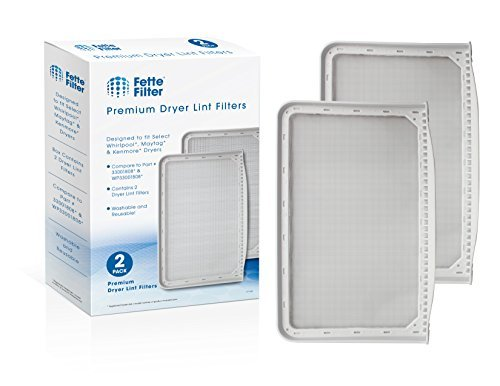 Fette Filter – Dryer Lint Filter Screen Compatible with Maytag 33001808, WP33001