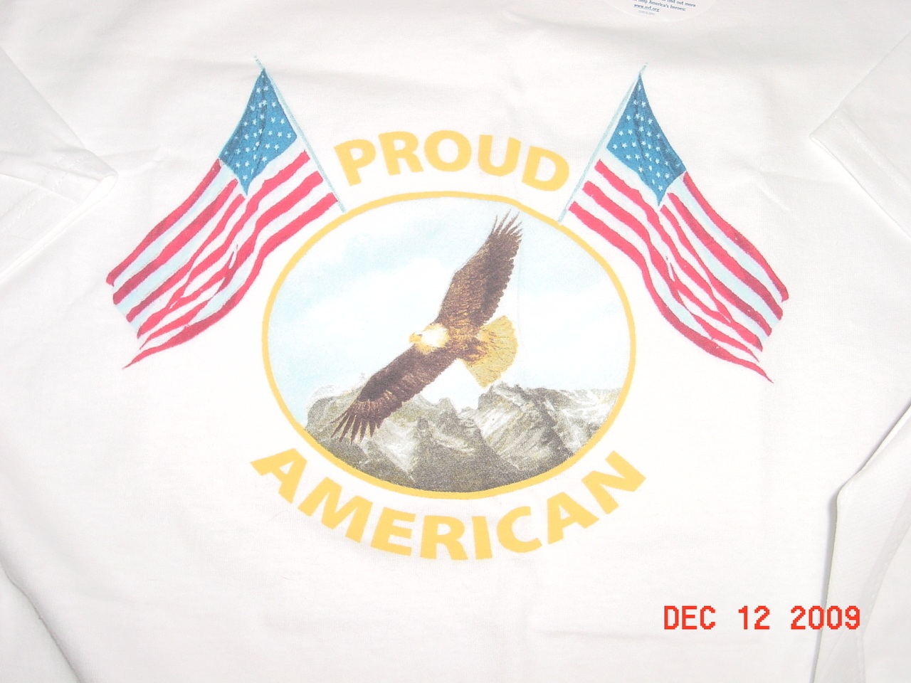 Yazbek White Heavy Weight T-Shirt XL Proud to be an American