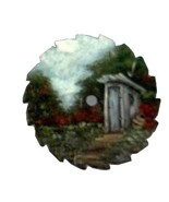 Collectible Mini Summer Round Painted Sawblade Outhouse R Custom Order - $12.50