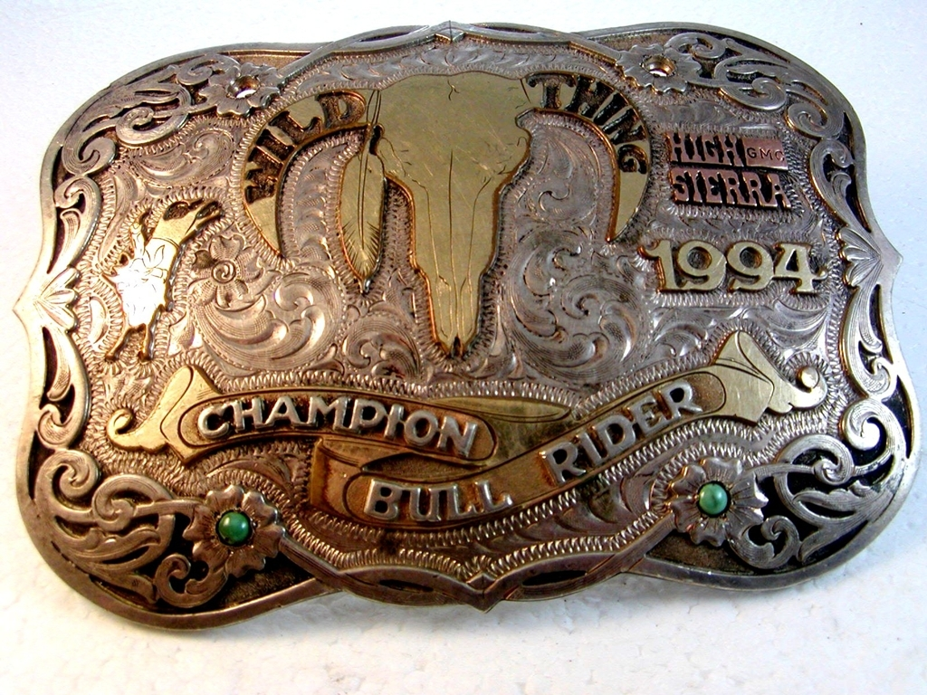 2000 All Around Champion Springfield Colorado Rodeo Belt Buckle by Red Bluff Buc