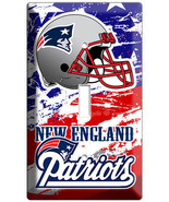 NEW ENGLAND PATRIOTS FOOTBALL TEAM 1 GANG LIGHT SWITCH WALL PLATE MAN CAVE DECOR - $8.99