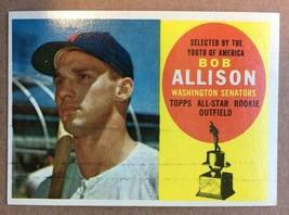 1960 Topps #320 Bob Allison Baseball Card EX Condition Washington Senato... - $3.99
