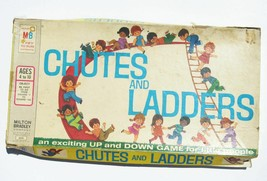 1972 Chutes And Ladders Board Game Milton Bradley 4600 In Box Vintage Co... - $8.81