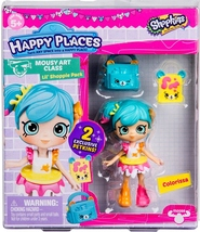 Shopkins Happy Places Colorissa & 2 exclusive Petkins Lil' Shoppie Pack S3 - $9.95