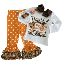 Cute Kids Clothing Toddler Girl/Girls Thankful Grateful Blessed Thanksgi... - $31.49