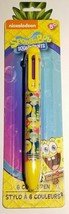 Nickelodeon Spongebob Squarepants 6 COLOR Ball Point Ink Pen  *Back to School*
