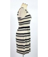 J.Crew Mini Dress Off White Black Stripe Slinky Shift Sleeveless Tank To... - $9.89