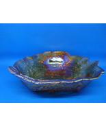 Indiana Glass grape & leaf amber candy/ nut bowl. - $15.00