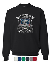 Don't Tread On Me Crew Neck Sweatshirt Defend Liberty Gadsden Flag - $14.96+