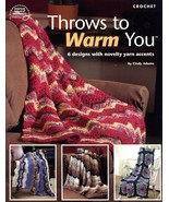 Throws To Warm You 6 Designs NEW ASN1419 Afghan Crochet Pattern Leaflet - $3.57