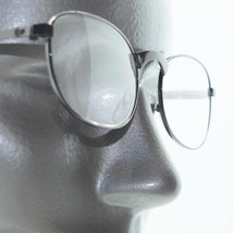 Classic Oval Reading Glasses Shiny Gray Wire Metal Frame +1.50 Lens - $22.00