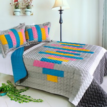 [Creative Life] 3PC Patchwork Quilt Set (Full/Queen Size) - $105.99