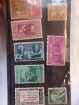 9 Vintage GEORGE WASHINGTON USPS Stamps US Postal Set Walt Disney Corp - $8.60