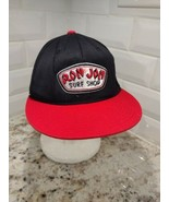 Ron Jon Surf Shop Cap Black Red Flat Bill  6 7/8- 7 1/4  210  FITTED FLE... - $9.49