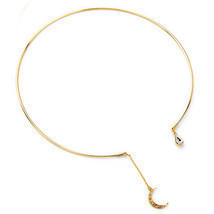 wing yuk tak Unique Bohemian Gold Color Alloy Classic Moon Pendant Neckl... - $6.48