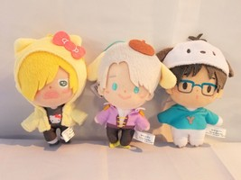 Yuri On Ice Anime Official Sanrio FuRyu Three Piece Plush Set Victor Yur... - $64.34