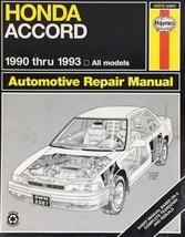 1990-93 Honda Accord Automotive Repair Manual - Haynes 42012 (2067) - $7.43