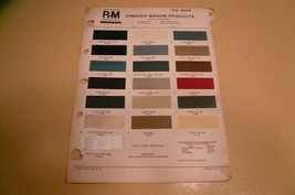 1968 Buick R-M Color Chip Paint Sample Riviera - $8.79