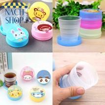 1 Pc Cute Cartoon Portable Telescopic Cup Folding Cup Creative Travel Cu... - $4.56