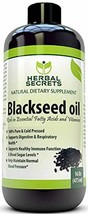 Herbal Secrets Black Seed Oil Natural Dietary Supplement - Cold Pressed ... - $37.06